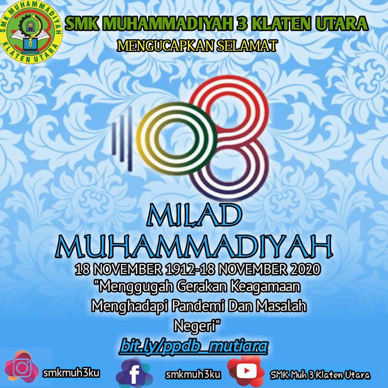 Selamat Milad Muhammadiyah